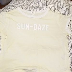 Garage Cropped Baby Tee 'SUN-DAZE'
